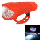 Leadbike A50 USB Rechargeable 2-LED 100lm 2-Mode White Light Bike Bicycle Lamp Headlight - Red