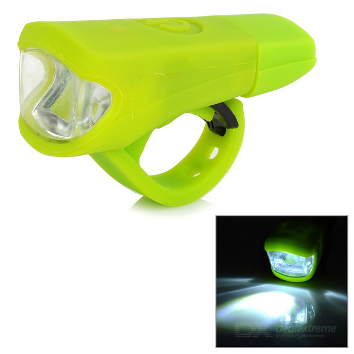 Leadbike A50 2-LED 100lm 2-Mode White Light Bike Lamp - GreenBike Light<br>Form  ColorLight GreenModelA50Quantity1 DX.PCM.Model.AttributeModel.UnitMaterialSilicone + LEDEmitter BINLEDColor BINWhiteNumber of Emitters2BatteryBuilt-in 800mAh lithium batteryBattery included or notYesCurrent200 DX.PCM.Model.AttributeModel.UnitActual Lumens100 DX.PCM.Model.AttributeModel.UnitNumber of Modes2Mode ArrangementHi,Fast StrobeSwitch TypeForward clickySwitch LocationSideApplicationHandle BarWaterproofYesPacking List1 x Headlight<br>