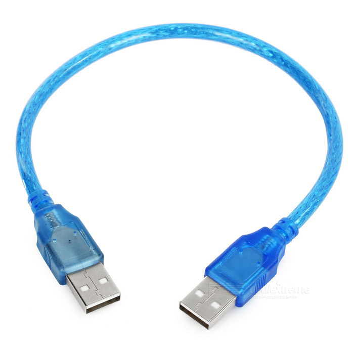 USB 2.0 Male to Male Shielding Cable - Blue (30cm)