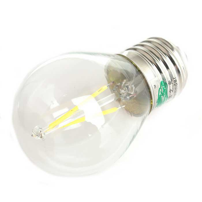 Zweihnder E27 2W LED Filament Globe Bulb White Light 6000K 180lm