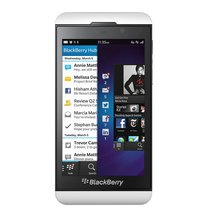 Äkta Blackberry Z10 4G LTE 16GB - Vit