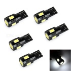 T10 1.6W Car LED Bulb Cold White 12000K 35lm - Black + Yellow (4PCS)
