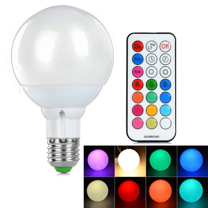 E27 7W LED Bulb Lamp RGB 240lm - White + Silvery Grey (AC 85~265V)