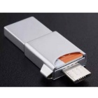 Samsung Metal OTG Card Reader w/ EVO 64GB MicroSD TF Memory Card