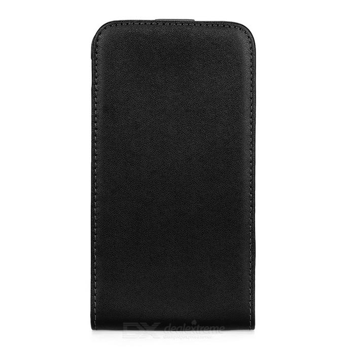 Flip-Open PU Leather Full Body Case Cover for Sony Xperia E4 - Black