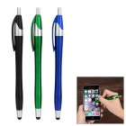 Kinston 3-in-1 Ballpoint Pens Fine Capacitive Touch Screen Silicone Stylus - Black + Blue