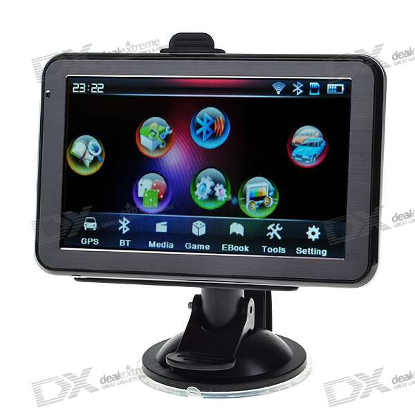 "5.0"" LCD 396MHz Windows CE 5.0 Core GPS Navigator with Bluetooth and USA Maps 2GB TF Card"