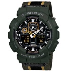 Genuine Casio Limited Model GA-100MC-3ADR Cloth Band Sport Watch - Green