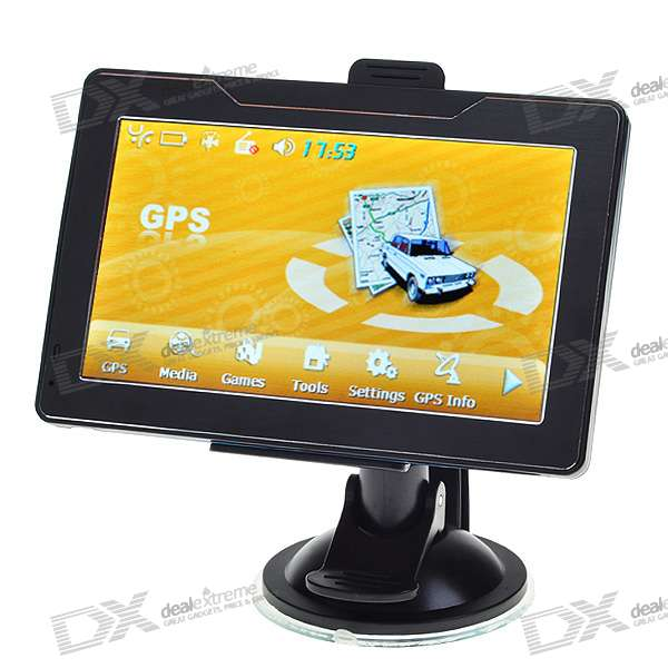 "5.0"" LCD Windows CE 6.0 Core GPS Navigator with Bluetooth and USA Maps 2GB SD Card"
