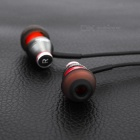 JBMMJ MJ-900 Wired 3.5mm In-Ear Earphones Headphones - Black + Red