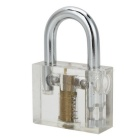 Transparent Inner Visual Lock w/ Key + Tool Set for Locksmith Lockpick Skill Training - Silver