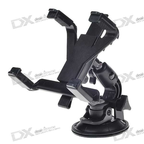 Universal Car Windshield Swivel Mount for Ipod/GPS/MP4/Cell Phone (6.5~10 Devices) windshield universal swivel rotation car mount holder for cell phone gps psp iphone black
