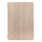 Protective TPU Back Case w/ Stand for IPAD AIR - Champagne + Translucent Gold