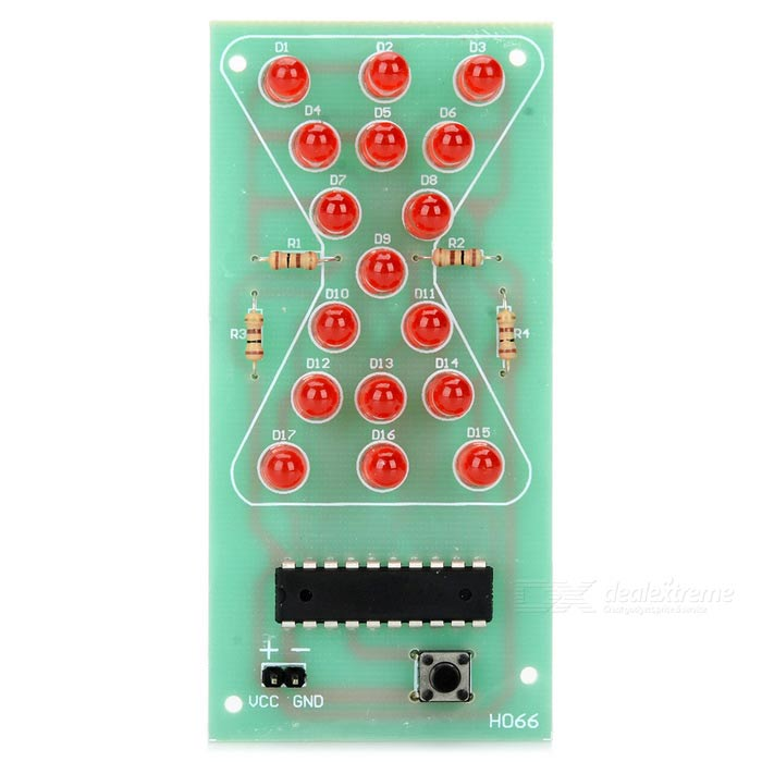 LED Hourglass Sandglass Timer Module - Green + Red