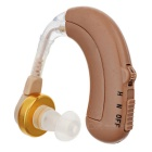 Rechargeable BTE Earhook Hearing Aid w/ 4-Mode Volume Control - Light Brown