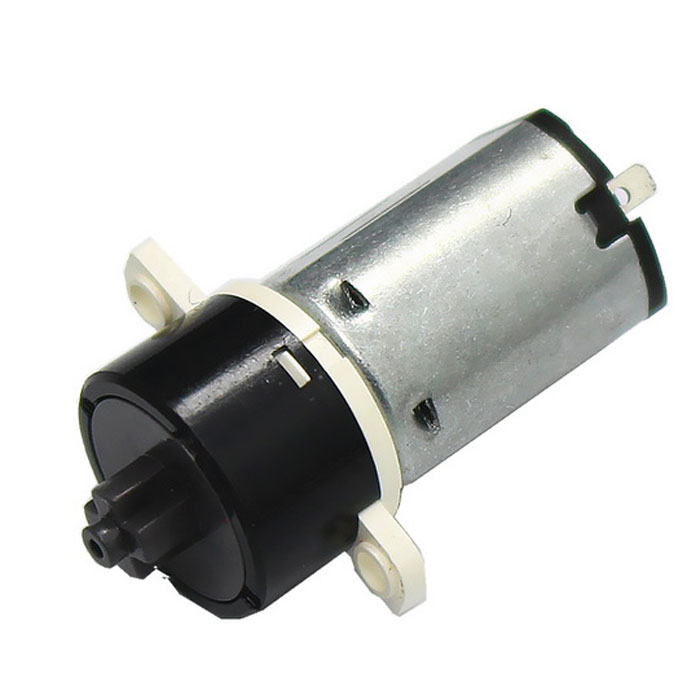 DC 3.7V 250RPM 12mm Planetary Reduction Gear Motor w/ Mounting Holes - Black