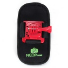NEOpine 360 Degrees Backpack Shoulder Strap Mount for GoPro Hero 2 / 3 / 4 / Xiaomi Xiaoyi - Red