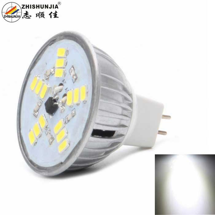 ZHISHUNJIA MR16 5W LED Lamp Bulb Cold White 15-SMD 5630 - Silver