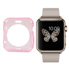 Protective TPU Dial Screen Protector Case for APPLE WATCH 38mm - Translucent Pink