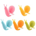 Attractive Cute Snail Shape Silicone Tea Bag Holders - Yellow + Multi-Colored (5 PCS)