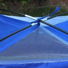 Single Layer Outdoor Camping Tent for One Persons - Deep Blue + Yellow