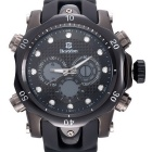 BESTDON BD5515G Men's Quartz & LED Electronics Dual Time Display Wrist Watch - Black(1 x 2025)