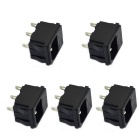Jtron 3-Pin Socket with 250V Fuse - Black (5pcs)