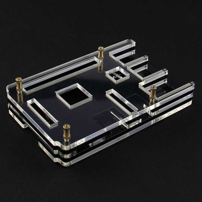 Acrylic Rainbow Case / Box / Shell for Raspberry PI 2 Model B (5PCS)