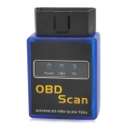 ELM327C Super Mini V2.1 Bluetooth OBD-II Car Auto Diagnostic Scanner Tool - Blue + Black (12V)