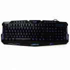 M200 USB 2.0 Wired 114-Key Backlit Gaming Keyboard - Black (Russian)