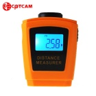 "CPTCAM CP-3005 Mini 1.2"" Handheld Ultrasonic Distance Measuring Meter / Range Finder - Yellow"