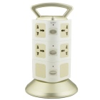 VONETS 300Mbps 2500W 10A Wi-Fi Socket AP Repeater w/ 8-Power Socket / - White + Golden (EU Plug)