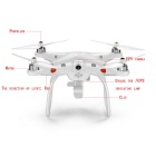 FPV Real-Time Image Transmission GPS Autopilot Aerial 6-CH Quadcopter - White (Camera Not Included)