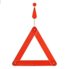 Folding Reflective Plastic Car Safety Warning Triangle Reflector - Red