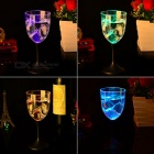 LED Champagne Glass Cup Goblet for Party - Transparent (310ml)