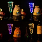 LED Champagne Glass Cup Goblet for Party - Transparent (220ml)