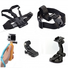 5-in-1 Sports Camera Accessories Kit for GoPro, SJ5000, Xiaoyi