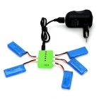 5 x 3.7V 500mAh Battery + 1 to 5 Charger + TOL Adapter + Charger + Charging Cable Kit