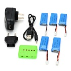 3.7V 500mAh Battery + Charger + TOL Adapter + More Kit - Multicolored