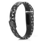 Replacement TPE+TPU Wrist Band w/ Clasp for Fitbit Flex - Black