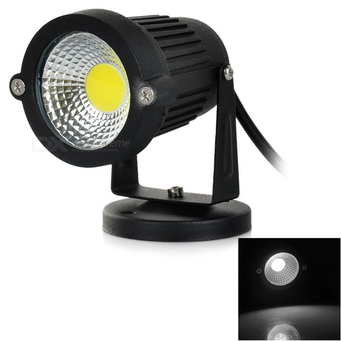 3W COB LED Lawn Garden Lamp Spotlight 200lm 6500K White Light - BlackLandscape Lamps<br>Form  ColorBlackMaterialAluminumQuantity1 DX.PCM.Model.AttributeModel.UnitWaterproof GradeIP65Power3WRated VoltageOthers,DC/AC 12 DX.PCM.Model.AttributeModel.UnitChip BrandOthers,N/AEmitter TypeCOBTotal Emitters1Theoretical Lumens200 DX.PCM.Model.AttributeModel.UnitActual Lumens200 DX.PCM.Model.AttributeModel.UnitColor BINWhiteColor Temperature5800~6500KDimmableNoBeam Angle120 DX.PCM.Model.AttributeModel.UnitInstallation TypeWall MountCertificationCE, RoHSPacking List1 x 3W Lawn light (24+/-2cm)<br>