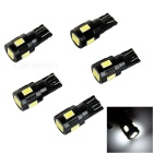 T10 1.5W 6-LED-5730 SMD Brake / Backup / Steering-Lampe (5 PCS)