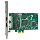 Tarjeta de adaptador de red PCI-E de doble RJ45 1000Mbps - verde + Multicolor