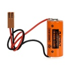 AITELY Non-chargeable 3.6V ER14335 Lithium Battery w/ K-type Connecting Wire - Orange + Black