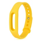 Replacement Silicone Wrist Band for Xiaomi Smart Bracelet - Yellow