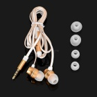 USAMS Mensa Series Noise Isolation 3.5mm In-Ear Earphone w/ Mic - Gold