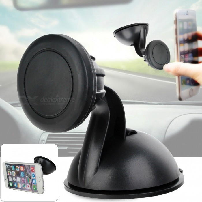 Universal XWJ-1505 Magnetic 360 Rotary Cellphone Mount Holder - BlackMounts &amp; Holders<br>Form ColorBlackModelXWJ-1505MaterialABSQuantity1 DX.PCM.Model.AttributeModel.UnitMount TypeCar MountPacking List1 x Mount holder1 x Magnetic card<br>