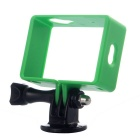 Professional Protective Border Frame Case Holder w/ Mount + Screw for Xiaomi Xiaoyi Camera - Green