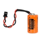 AITELY 3.6V ER14250-Q Lithium Battery w/ Plug - Orange + Black