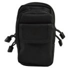 Outdoor Multifunctional Nylon Waist Bag - Black